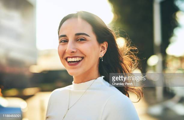 your smile is what makes you unique - beautiful israeli women stock pictures, royalty-free photos & images