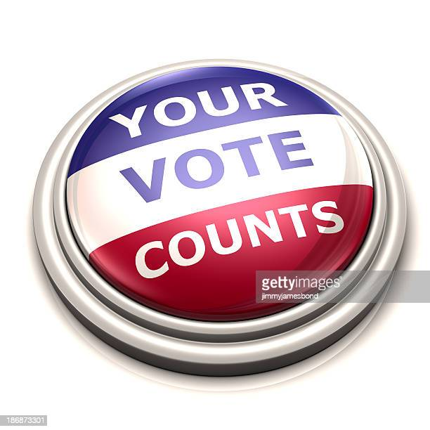 your vote counts button - counting stock pictures, royalty-free photos & images