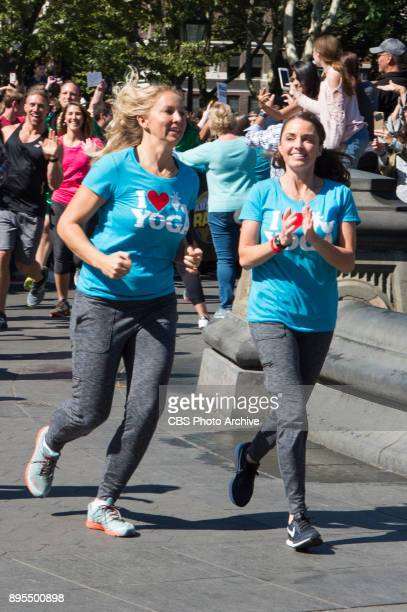 'You're a Champion Prove It'Sarah Williams and April Gould Goat Yoga Instructors from Arizona make their way to the starting line in the iconic...