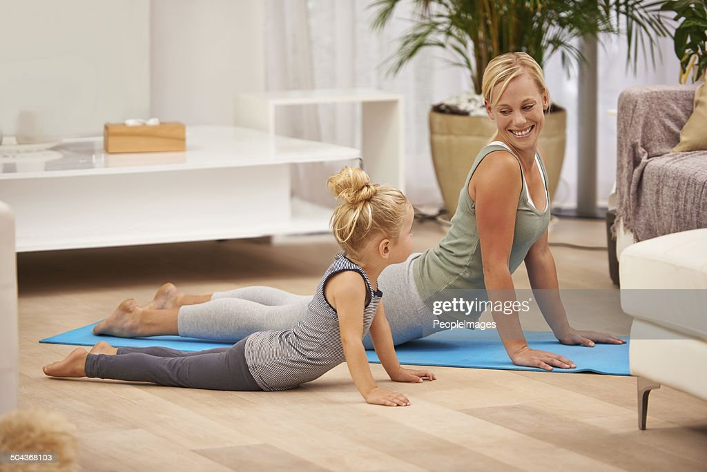 You're doing it like mommy now : Stock Photo