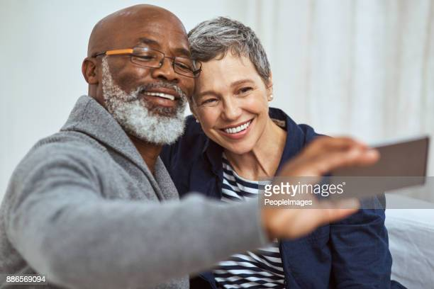 you're never too old for a selfie - beautiful wife pics stock pictures, royalty-free photos & images