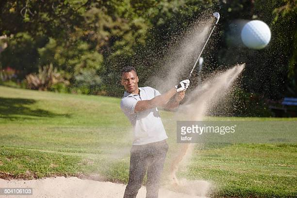 you're not a pro until it's out of the bunker - sand trap stock pictures, royalty-free photos & images