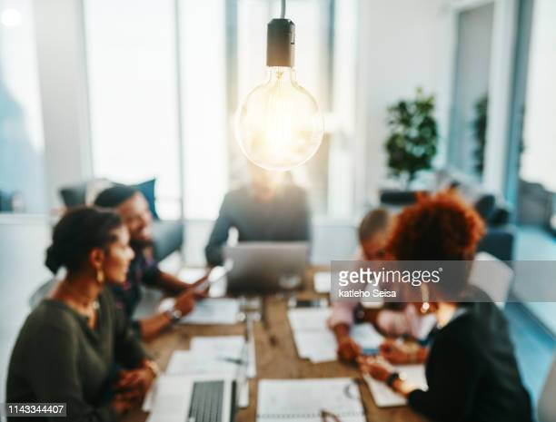 you're one meeting away from a brilliant idea - innovation stock pictures, royalty-free photos & images