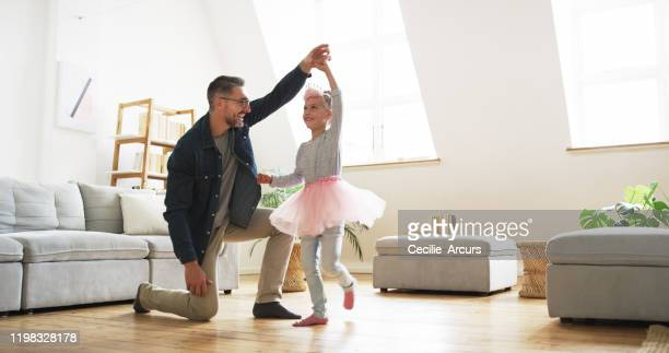 you're so good at dancing! - father daughter stock pictures, royalty-free photos & images
