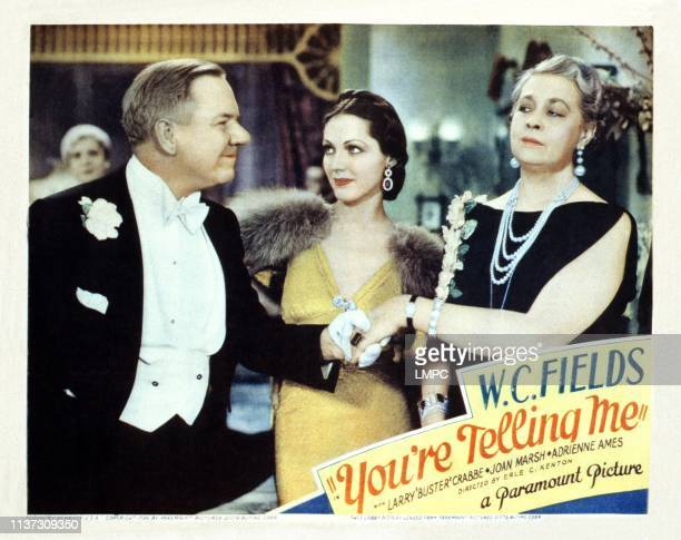 You're Telling Me US lobbycard from left WC Fields Adrienne Ames Louise Carter 1934