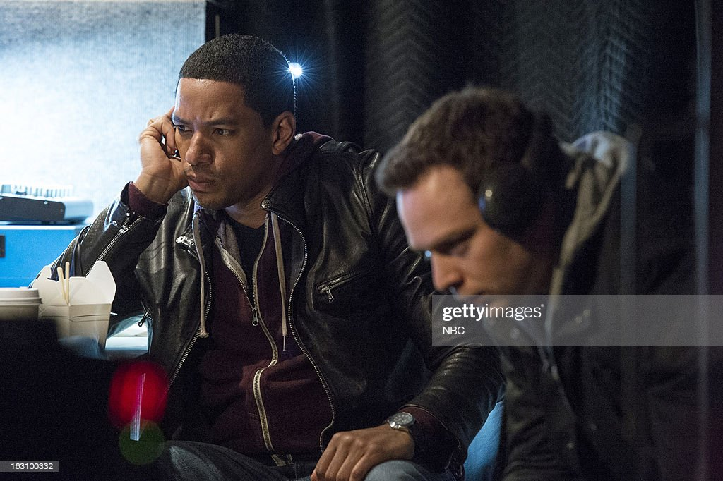 DECEPTION -- 'You're the Bad Guy' Episode 110 -- Pictured: (l-r) Laz Alonso as Will Moreno, Michael Drayer as Gabe --