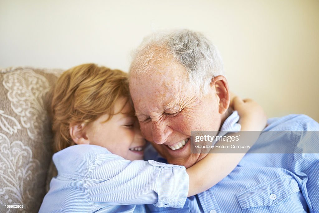 You're the best grandad : Stock Photo