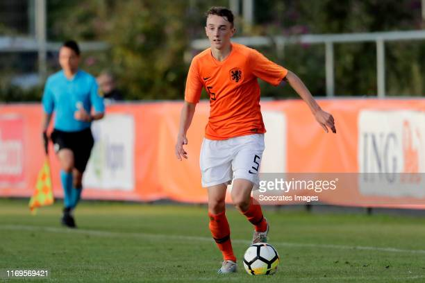 Youri Baas of Holland U17 during the U17 Men match between Holland v France at the Sportpark Vondersweijde on September 19, 2019 in Oldenzaal...
