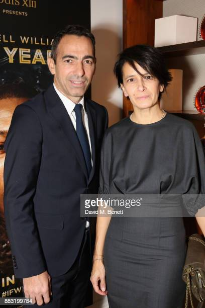 Youri Djorkaeff and Ludovic du Plessis attend as LOUIS XIII and Dylan Jones GQ Editor in Chief cohost Intimate Dinner Celebrating the brand's '100...