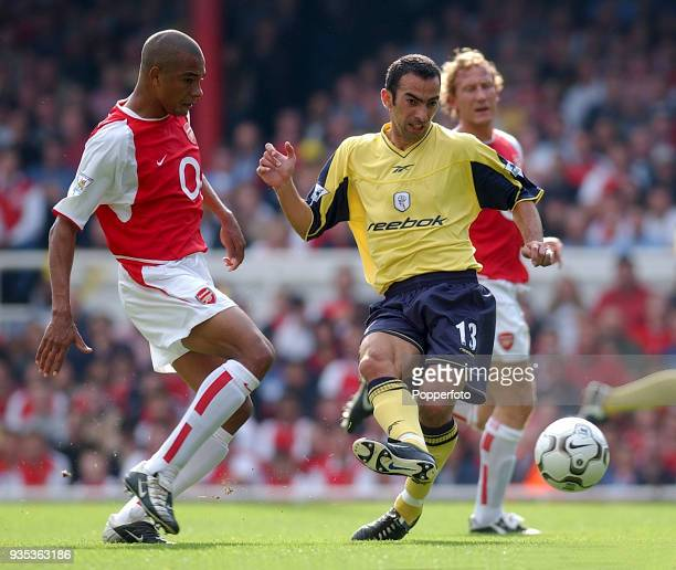 Youri Djorkaeff of Bolton Wanderers in action during the FA Barclaycard Premiership match between Arsenal and Bolton Wanderers at Highbury in London...