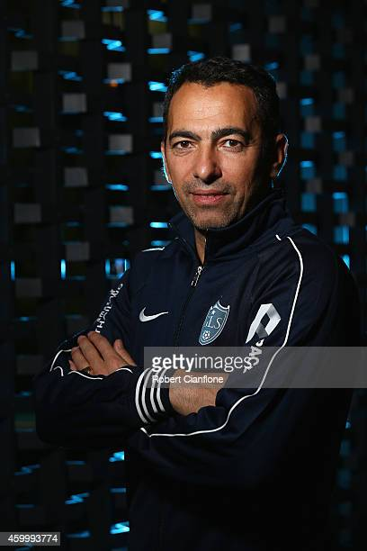 Youri Djorkaeff poses during a Global Legends Series portrait session at the Swissotel on December 5 2014 in Bangkok Thailand