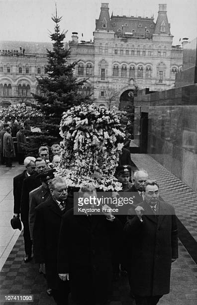 Youri Gagarin Funerals In Moscow On The Sixties