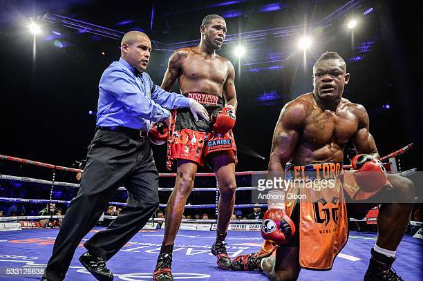 Youri Kalenga and Yunier Dorticos during the World Championship WBA at Dome de Paris Palais des Sports on May 20 2016 in Paris France