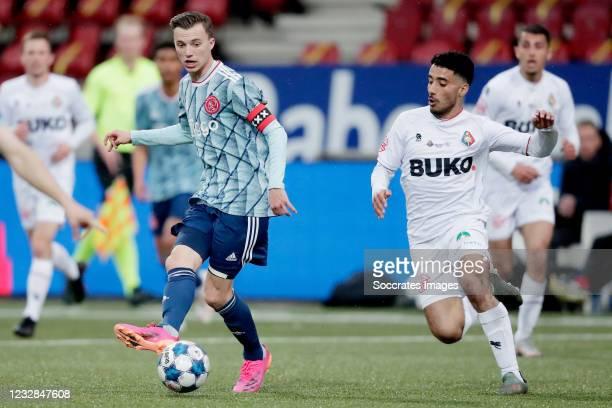 Youri Regeer of Ajax U23, Anass Najah of Telstar during the Dutch Keuken Kampioen Divisie match between Telstar v Ajax U23 at the Rabobank IJmond...