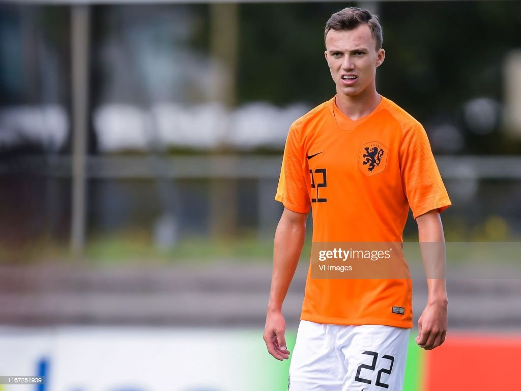 Youri Regeer of Netherlands U18 during the International Friendly ...