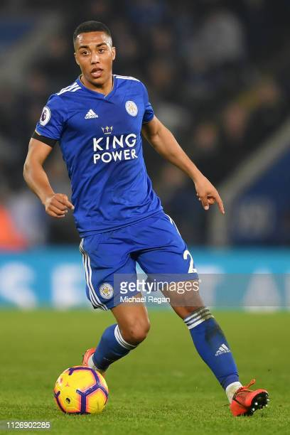 Youri Teilemans of Leicester City controls the ball during the Premier League match between Leicester City and Crystal Palace at The King Power...