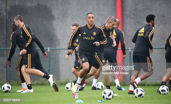 Youri Tielemans During A Belgium Training Session At The