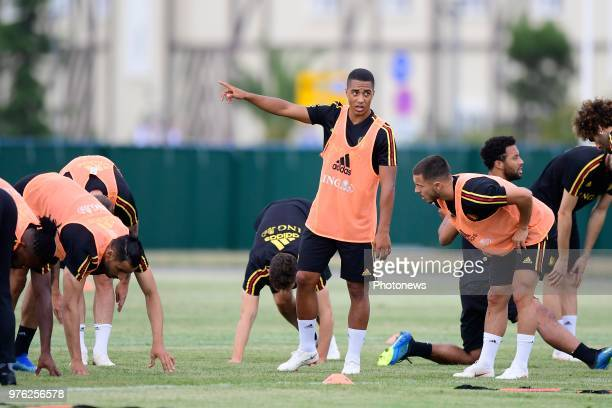 Youri Tielemans midfielder of Belgium pictured during a training session of the National Soccer Team of Belgium prior to the FIFA 2018 World Cup...