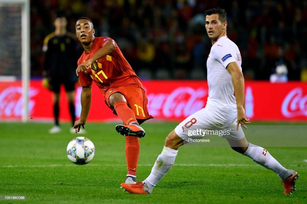 Youri Tielemans Midfielder Of Belgium, Remo Freuler