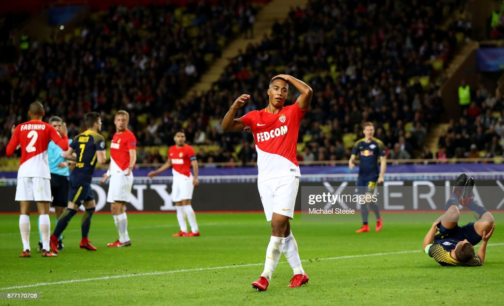 Youri Tielemans Of AS Monaco FC Looks Dejected During The