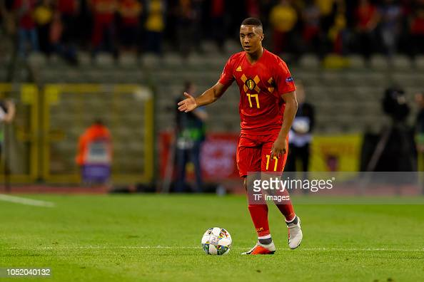 Youri Tielemans Of Belgium Controls The Ball During The