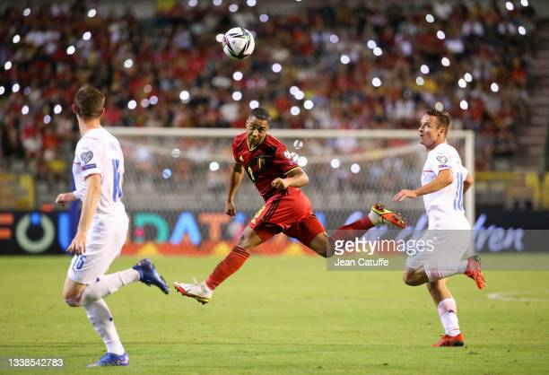 Youri Tielemans of Belgium during the 2022 FIFA World Cup Qualifier match between Belgium and Czech Republic at King Baudouin Stadium on September 5,...