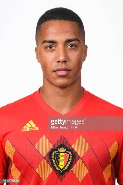 Youri Tielemans of Belgium poses for a portrait during the official FIFA World Cup 2018 portrait session at the Moscow Country Club on June 14 2018...