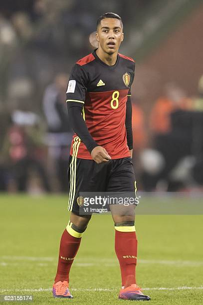 Youri Tielemans of Belgiumduring the FIFA World Cup 2018 qualifying match between Belgium and Estonia on November 13 2016 at the Koning Boudewijn...