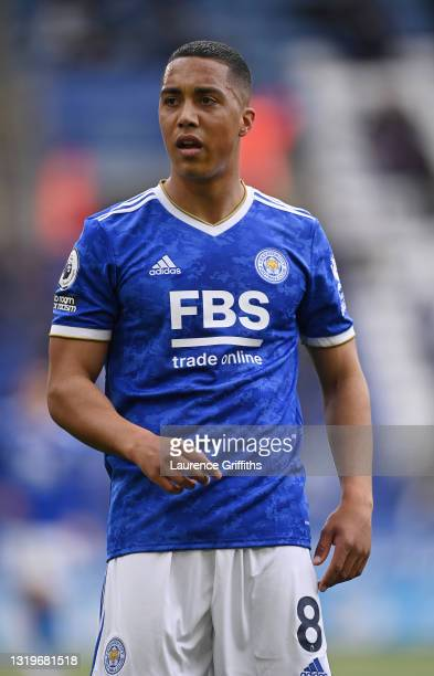 Youri Tielemans of Leicester City looks on during the Premier League match between Leicester City and Tottenham Hotspur at The King Power Stadium on...