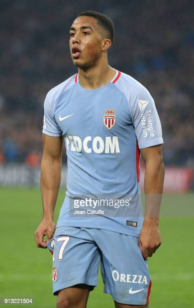 Youri Tielemans of Monaco during the French Ligue 1 match between Olympique de Marseille and AS Monaco at Stade Velodrome on January 28 2018 in...
