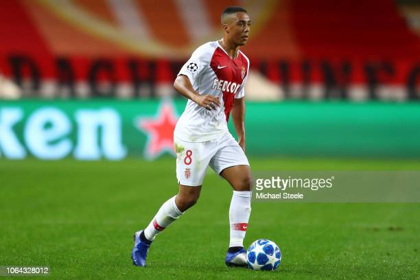 Youri Tielemans of Monaco during the Group A match of the UEFA Champions League between AS Monaco and Club Brugge at Stade Louis II on November 06...