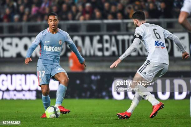 Youri Tielemans of Monaco during the Ligue 1 match between Amiens SC and AS Monaco at Stade de la Licorne on November 17 2017 in Amiens
