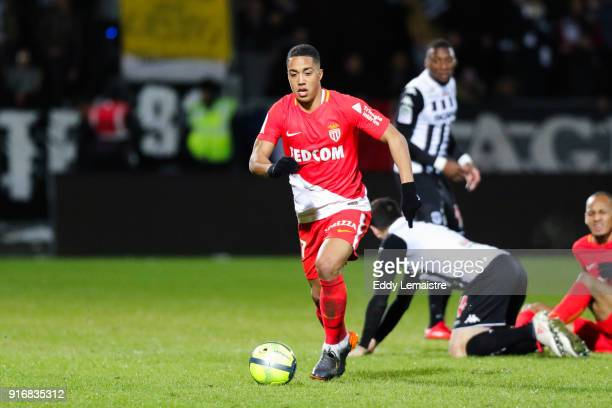 Youri Tielemans of Monaco during the Ligue 1 match between Angers SCO and AS Monaco at Stade Raymond Kopa on February 10 2018 in Angers