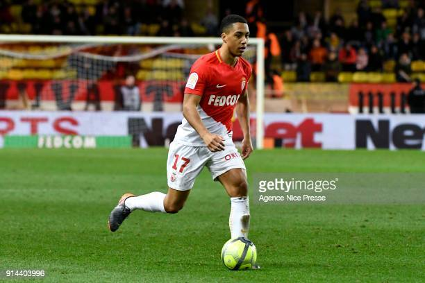 Youri Tielemans of Monaco during the Ligue 1 match between AS Monaco and Lyon at Stade Louis II on February 4 2018 in Monaco