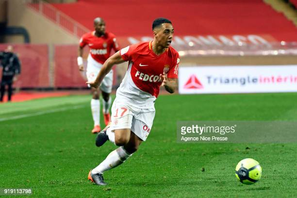 Youri Tielemans of Monaco during the Ligue 1 match between AS Monaco and Dijon FCO at Stade Louis II on February 16 2018 in Monaco