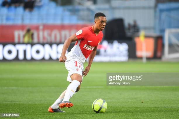 Youri Tielemans of Monaco during the Ligue 1 match between Troyes AC and AS Monaco at Stade de l'Aube on May 19 2018 in Troyes