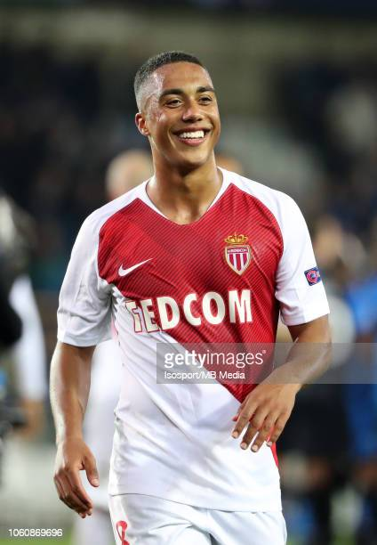 Youri Tielemans pictured during the Group A match of the UEFA Champions League between Club Brugge and AS Monaco at Jan Breydel Stadium on October 24...