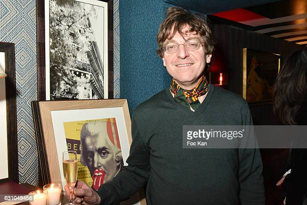 Youri Vincy director of Galerie Lara Vincy attends the 'Nuit Bruce Nauman' screening party and performance of Amelie Pironneau at la Galerie du...