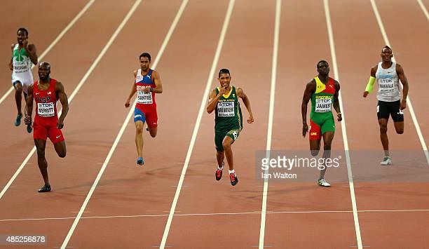 Yousef Ahmed Masrahi of Saudi Arabia Lashawn Merritt of the United States Luguelin Santos of the Dominican Republic Wayde Van Niekerk of South Africa...