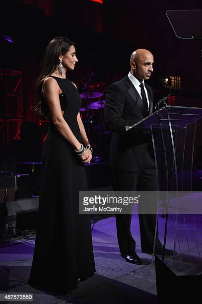 Yousef Al Otaiba speaks onstage at Angel Ball 2014 hosted by Gabrielle's Angel Foundation at Cipriani Wall Street on October 20 2014 in New York City