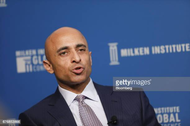 Yousef Al Otaiba United Arab Emirates' ambassador to the US speaks during the Milken Institute Global Conference in Beverly Hills California US on...