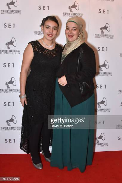 Yousra Cherbika and Mother attend a special screening of 'Grenfell Voices' including 3 short films featuring and inspired by Grenfell survivors and...