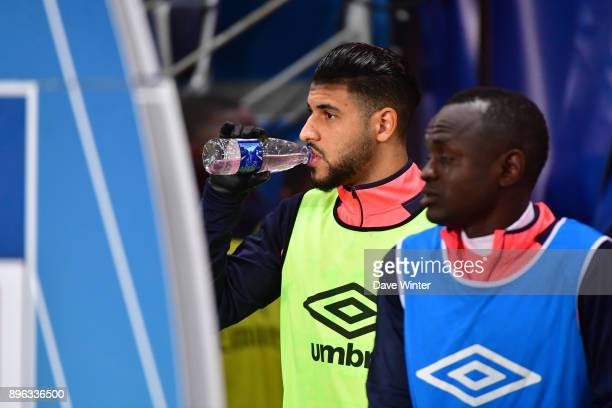 Youssef Ait Bennasser of Caen comes out to warm up before the Ligue 1 match between Paris Saint Germain and SM Caen at Parc des Princes on December...