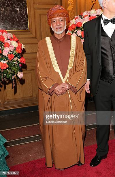 Youssef alAlawi Abdullah Minister of Foreign Affairs of Oman during the Semper Opera Ball 2016 at Semperoper on January 29 2016 in Dresden Germany