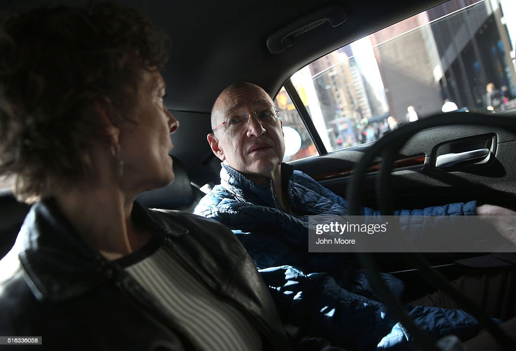Youssef Cohen rides to a doctor's appointment with his wife Lindsay Wright on March 16, 2016 in New York City. Cohen, 68, has an incurable cancer called mesothelioma and is advocating for the right to choose how and when he will die, proposed in New York State's End of Life Options Act, currently in front of the state legislature. Cohen is a professor of political science at New York University and is currently on sabbatical, due to his illness. He had his first bout with cancer in 2012 and has since undergone chemotherapy, surgery and radiation. He is currently taking immunotherapy infusions of the drug Keytruda in a final effort to fight the disease. The national 'right to die' movement is also known as 'death with dignity,' or called 'physician-assisted suicide' by opponents. It is now completely legal in 4 states, including California, where the new law goes into effect this June. If New York does not pass its legislation in time for Cohen's death, he and his wife say they are prepared to move to Oregon, the first state to make death with dignity legal, in order to insure that he dies without suffering.