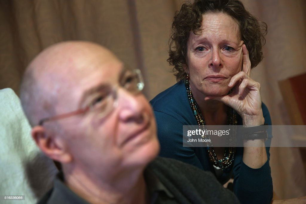 Youssef Cohen, 68, sits while undergoing cancer treatment as his wife Lindsay Wright looks on, on March 17, 2016 in New York City. Cohen has an incurable cancer called mesothelioma and is advocating for the right to choose how and when he will die, proposed in New York State's End of Life Options Act, currently in front of the state legislature. Cohen is a professor of political science at New York University and is currently on sabbatical, due to his illness. He had his first bout with cancer in 2012 and has since undergone chemotherapy, surgery and radiation. He is currently taking immunotherapy infusions of the drug Keytruda in a final effort to fight the disease. The national 'right to die' movement is also known as 'death with dignity,' or called 'physician-assisted suicide' by opponents. It is now completely legal in 4 states, including California, where the new law goes into effect this June. If New York does not pass its legislation in time for Cohen's death, he and his wife say they are prepared to move to Oregon, the first state to make death with dignity legal, in order to insure that he dies without suffering.