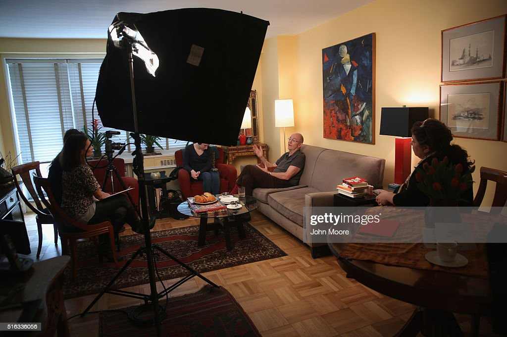 Youssef Cohen speaks with a video crew for the 'death with dignity' non-profit Compassion and Choices in his Manhattan apartment on March 16, 2016 in New York City. Cohen, 68, has an incurable cancer called mesothelioma and is advocating for the right to choose how and when he will die, proposed in New York State's End of Life Options Act, currently in front of the state legislature. Cohen is a professor of political science at New York University and is currently on sabbatical, due to his illness. He had his first bout with cancer in 2012 and has since undergone chemotherapy, surgery and radiation. He is currently taking immunotherapy infusions of the drug Keytruda in a final effort to fight the disease. The national 'right to die' movement is also known as 'death with dignity,' or called 'physician-assisted suicide' by opponents. It is now completely legal in 4 states, including California, where the new law goes into effect this June. If New York does not pass its legislation in time for Cohen's death, he and his wife say they are prepared to move to Oregon, the first state to make death with dignity legal, in order to insure that he dies without suffering.