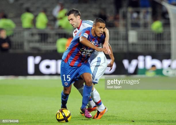 Youssef EL ARABI Anthony REVEILLERE Lyon / Caen 37eme journee de Ligue 1