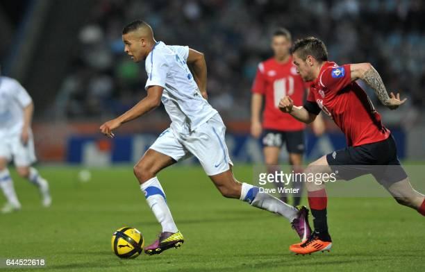 Youssef EL ARABI / Mathieu DEBUCHY Lille / Caen 29e journee Ligue 1 Photo Dave Winter / Icon Sport