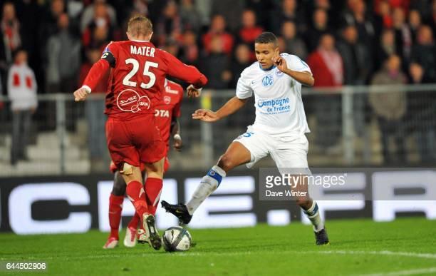 Youssef EL ARABI / Rudi MATER Valenciennes / Caen 8e journee Ligue 1 Photo Dave Winter / Icon Sport